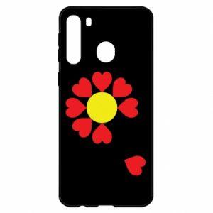 Etui na Samsung A21 Kwiat serc