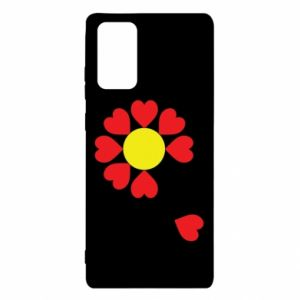 Etui na Samsung Note 20 Kwiat serc
