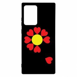 Etui na Samsung Note 20 Ultra Kwiat serc