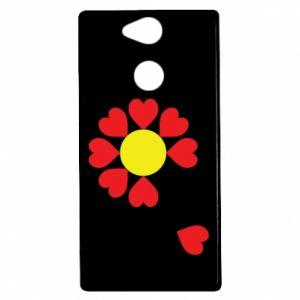 Etui na Sony Xperia XA2 Kwiat serc