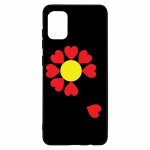 Etui na Samsung A31 Kwiat serc