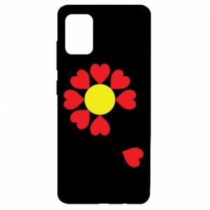 Etui na Samsung A51 Kwiat serc
