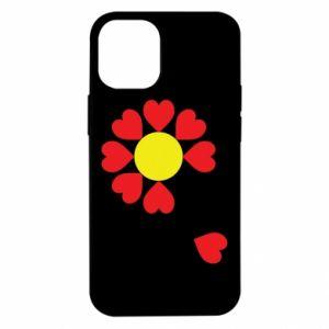 Etui na iPhone 12 Mini Kwiat serc