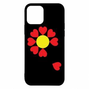 Etui na iPhone 12/12 Pro Kwiat serc