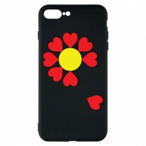 Etui na iPhone 8 Plus Kwiat serc