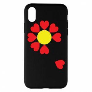 Etui na iPhone X/Xs Kwiat serc