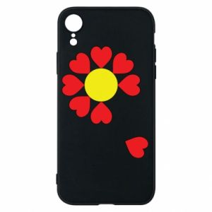 Etui na iPhone XR Kwiat serc