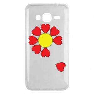 Etui na Samsung J3 2016 Kwiat serc