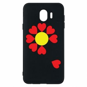 Etui na Samsung J4 Kwiat serc