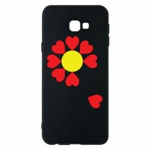 Etui na Samsung J4 Plus 2018 Kwiat serc
