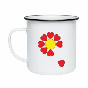 Kubek emaliowane Kwiat serc - PrintSalon