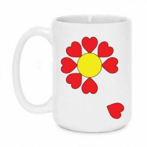 Kubek 450ml Kwiat serc - PrintSalon