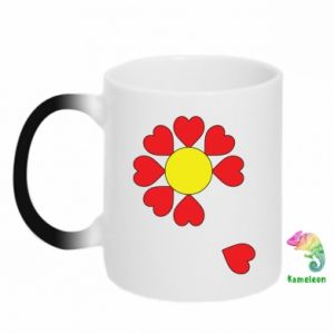 Kubek-kameleon Kwiat serc - PrintSalon