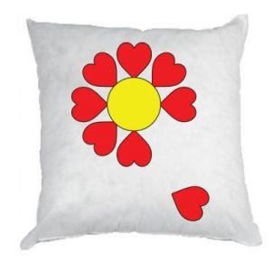 Poduszka Kwiat serc - PrintSalon
