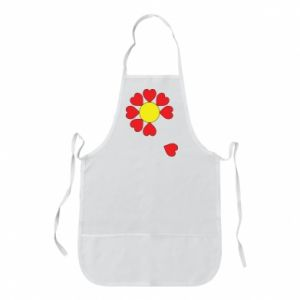 Fartuch Kwiat serc - PrintSalon