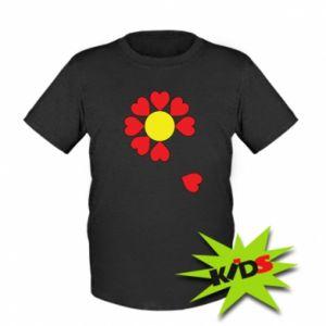 Dziecięcy T-shirt Kwiat serc - PrintSalon
