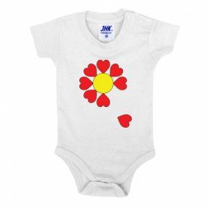 Body dla dzieci Kwiat serc - PrintSalon