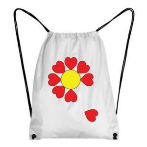 Plecak-worek Kwiat serc - PrintSalon