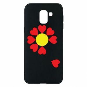 Etui na Samsung J6 Kwiat serc