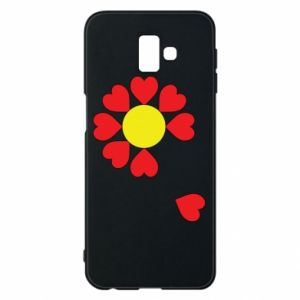 Etui na Samsung J6 Plus 2018 Kwiat serc