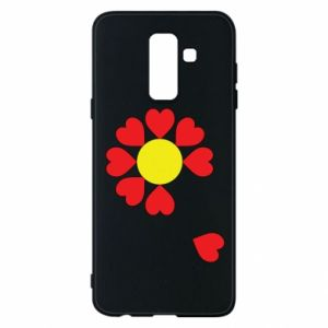 Etui na Samsung A6+ 2018 Kwiat serc