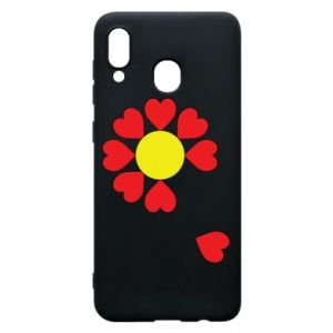 Etui na Samsung A30 Kwiat serc