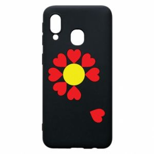 Etui na Samsung A40 Kwiat serc