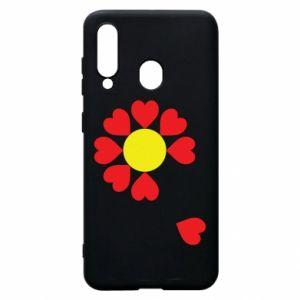 Etui na Samsung A60 Kwiat serc