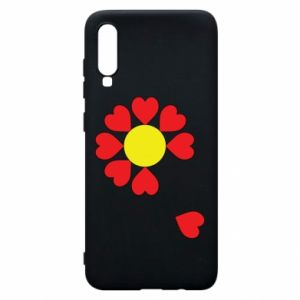 Etui na Samsung A70 Kwiat serc