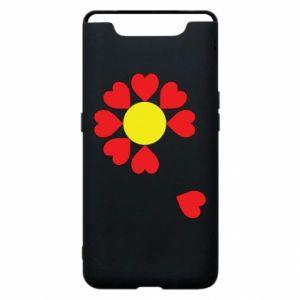 Etui na Samsung A80 Kwiat serc