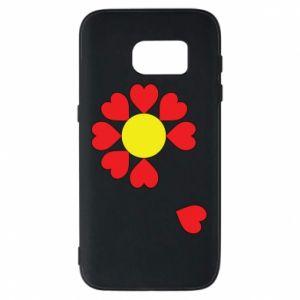 Etui na Samsung S7 Kwiat serc