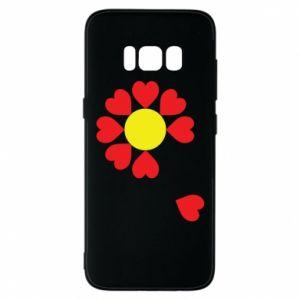 Etui na Samsung S8 Kwiat serc