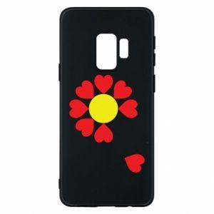 Etui na Samsung S9 Kwiat serc