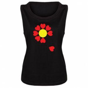 Koszulka bez rękawów damska Kwiat serc