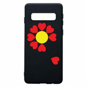 Etui na Samsung S10 Kwiat serc