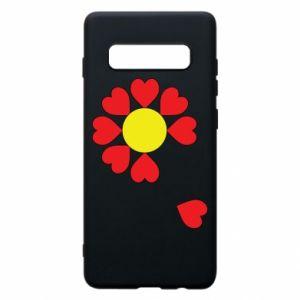Etui na Samsung S10+ Kwiat serc