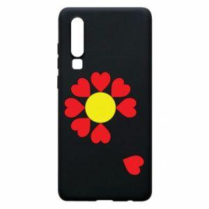 Etui na Huawei P30 Kwiat serc