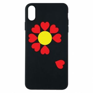 Etui na iPhone Xs Max Kwiat serc
