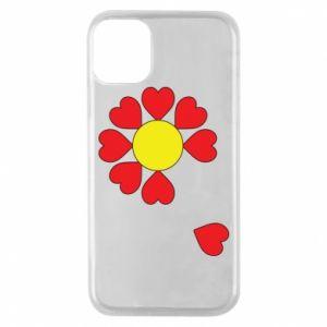 Etui na iPhone 11 Pro Kwiat serc