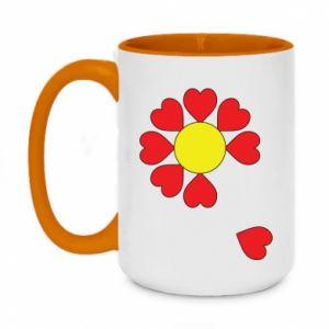 Kubek dwukolorowy 450ml Kwiat serc