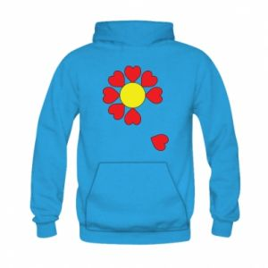 Bluza z kapturem dziecięca Kwiat serc
