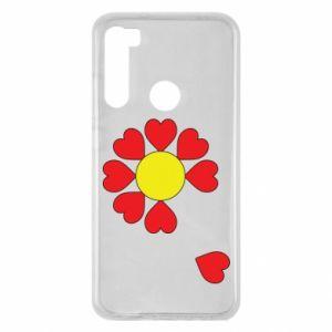 Etui na Xiaomi Redmi Note 8 Kwiat serc