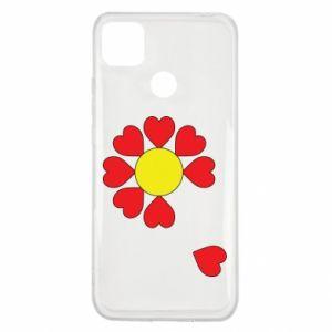 Etui na Xiaomi Redmi 9c Kwiat serc