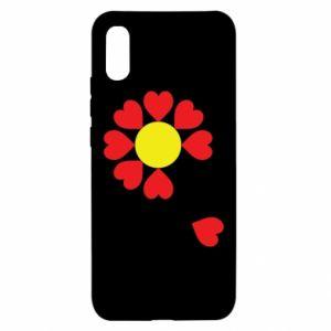 Etui na Xiaomi Redmi 9a Kwiat serc