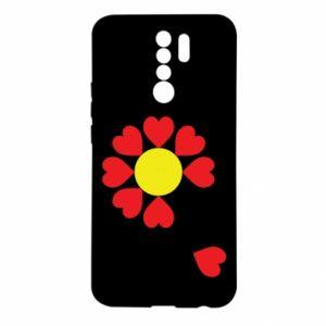 Etui na Xiaomi Redmi 9 Kwiat serc