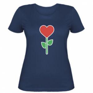 Damska koszulka Kwiat - serca