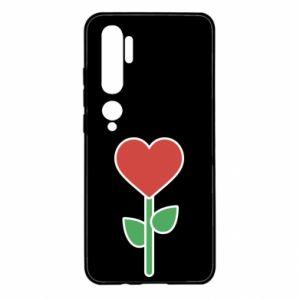 Etui na Xiaomi Mi Note 10 Kwiat - serca