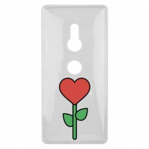 Etui na Sony Xperia XZ2 Kwiat - serca