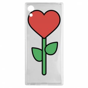 Etui na Sony Xperia XA1 Kwiat - serca