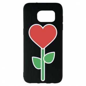 Etui na Samsung S7 EDGE Kwiat - serca